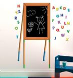 Wallies Chalkboard Easel wall sticker set